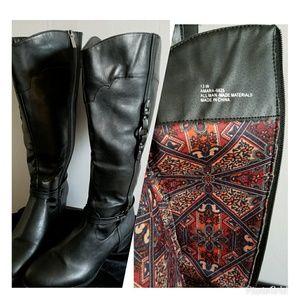 New Cloud Walker Black boots 13W low heel